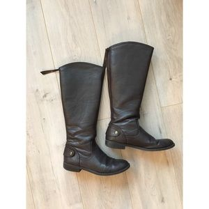Dark Brown Faux Boots